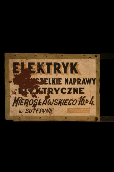 "Advertising signboard ""ELEKTRYK"""